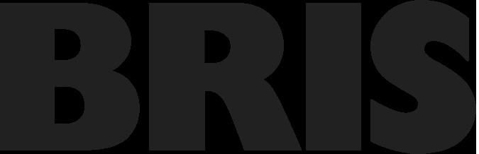 Logotyp för BRIS, svartvit