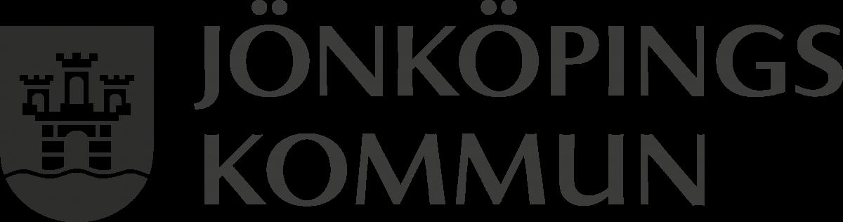 Logotyp för Jönköpings kommun, svartvit