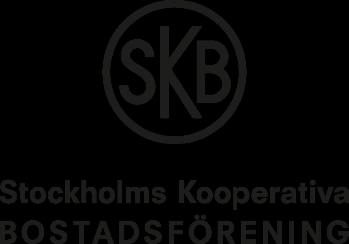 Logotyp för SKB, svartvit