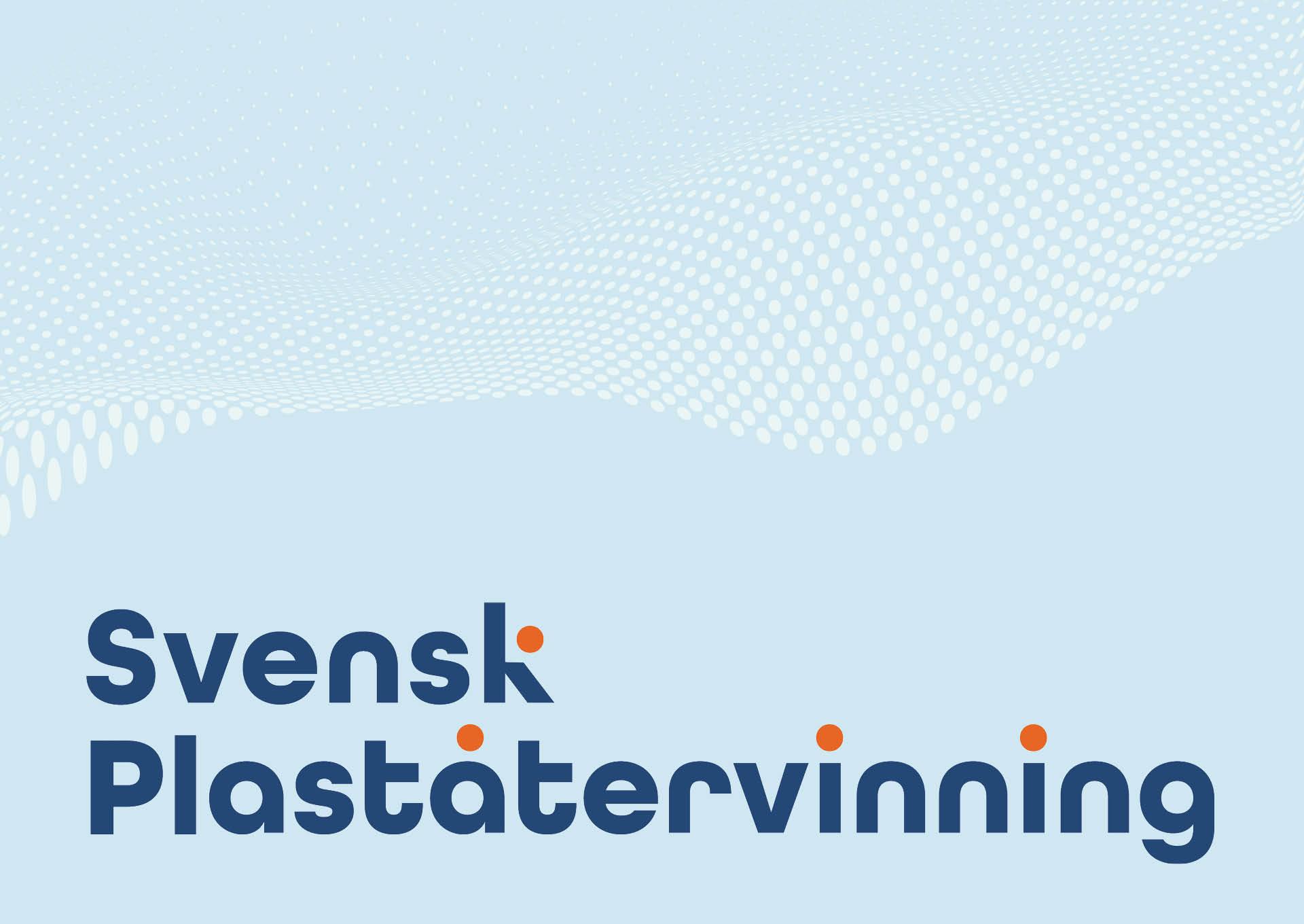 Logotyp och mönster för Svensk Plaståtervinning