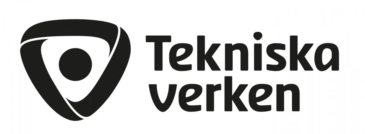 Logotyp för Tekniska verken, svartvit