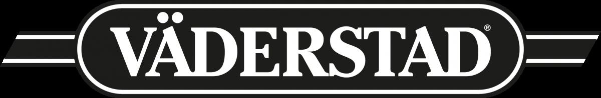 Logotyp för Väderstad, svartvit