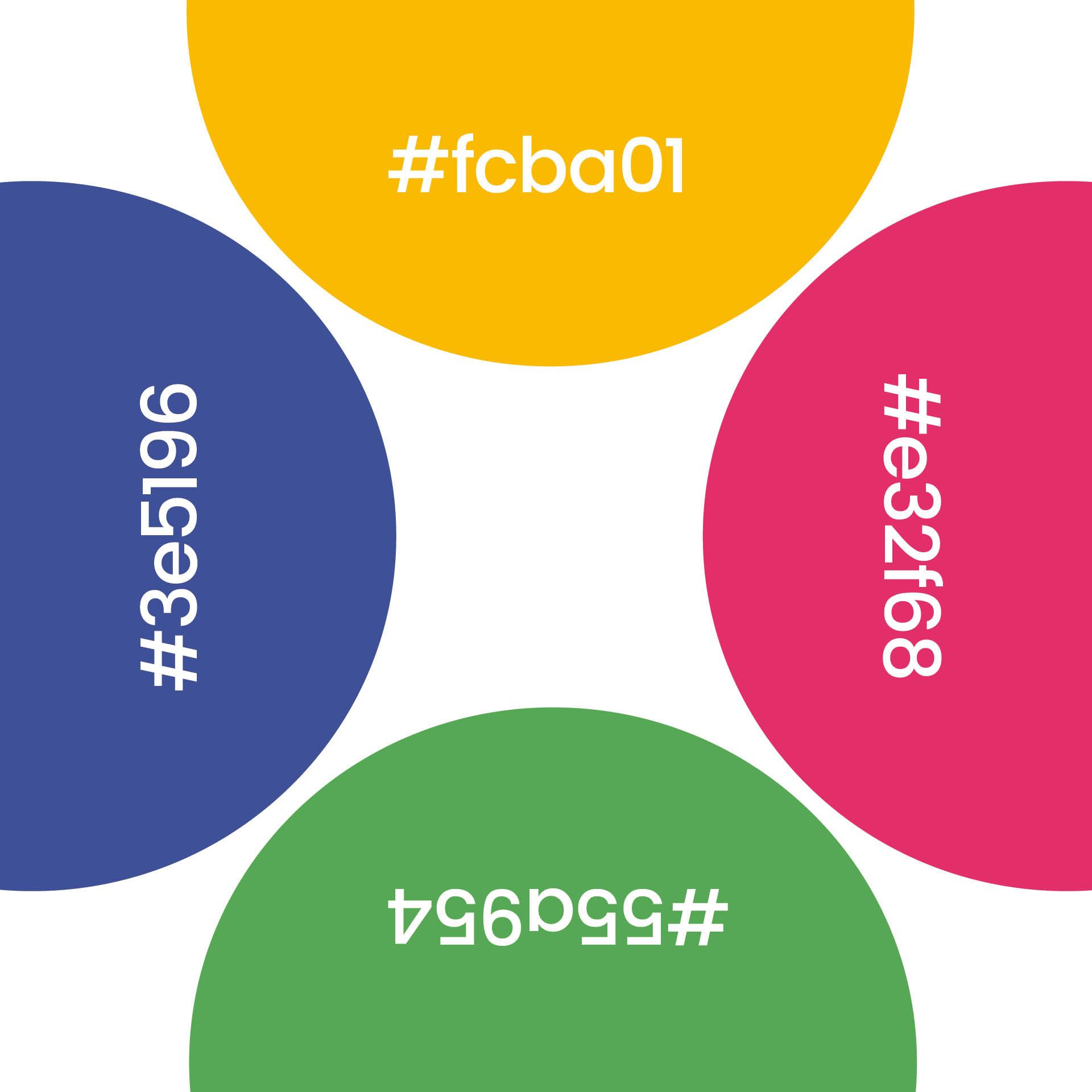 Färger ur Tidaholms grafiska profil, framtagen av Identx
