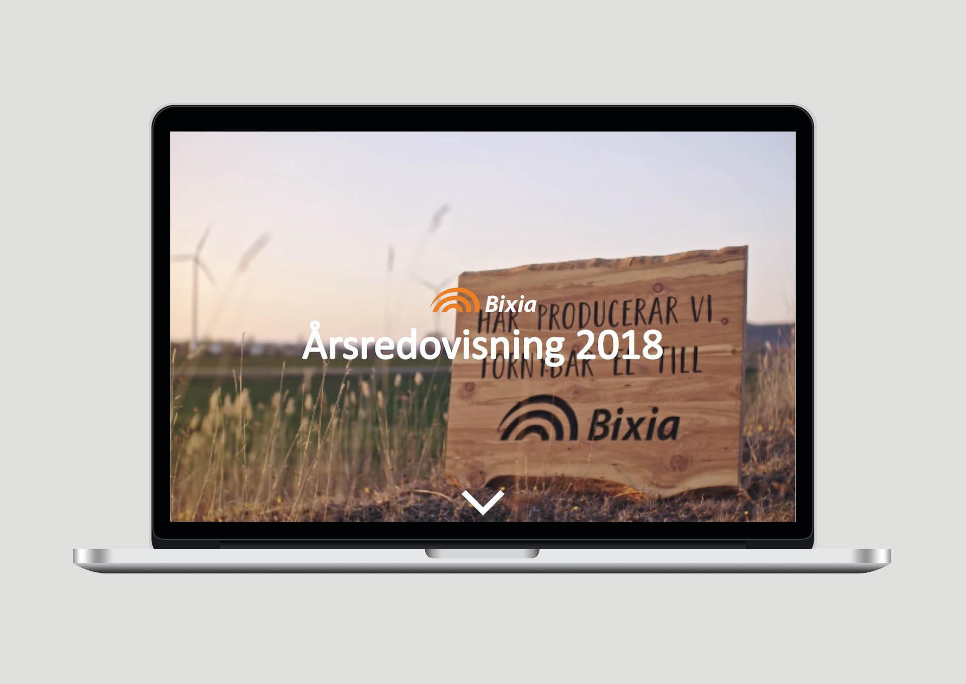 Identx har tagit fram Bixias årsredovisning för 2018
