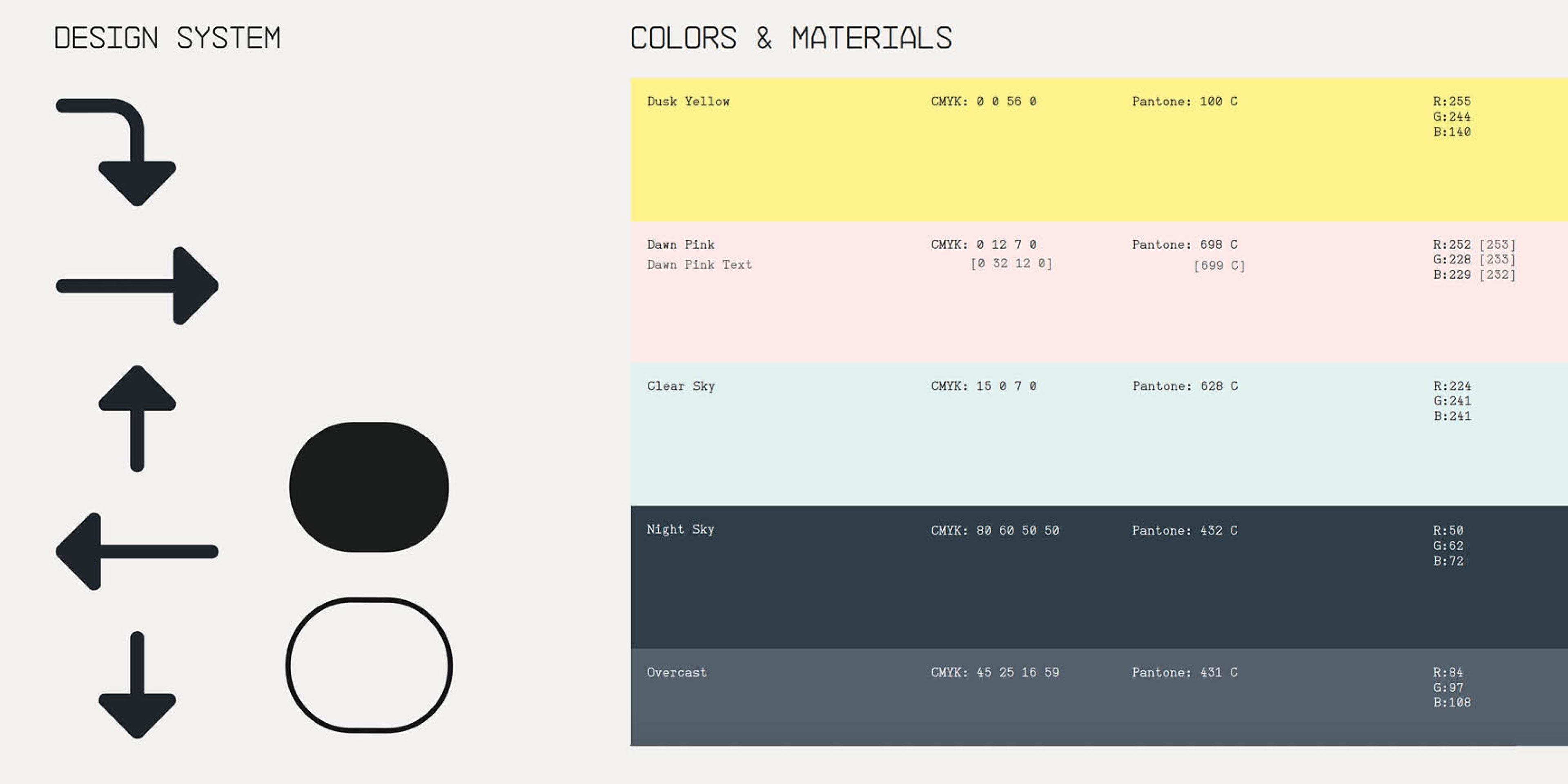 Färger och ikoner ur grafisk profil för CAV:OK - kund till Identx