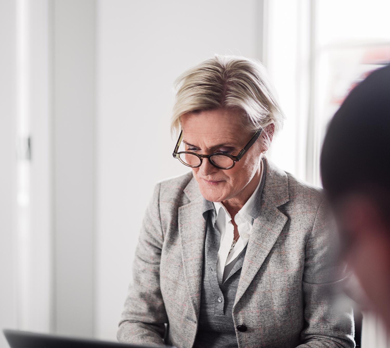 Karin Ljungmark Malmström på Identx kontor